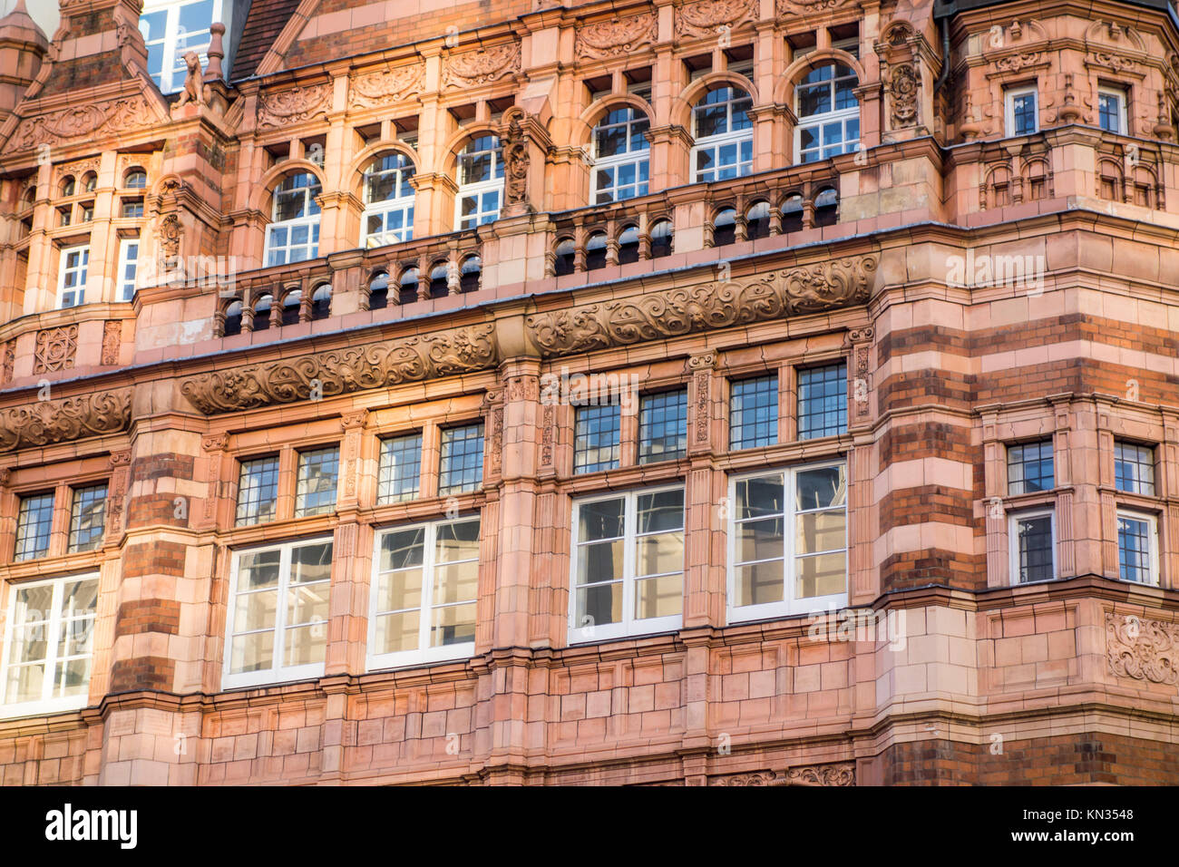 Former Ludgate Hill Branch of the City Bank, 45-47 Ludgate Hill, City of London, by Thomas Edward Collcutt 1891 Stock Photo