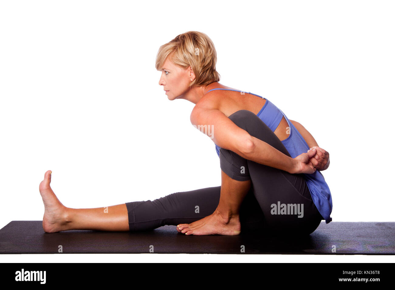 Twist Exercise Standing High Resolution Stock Photography and