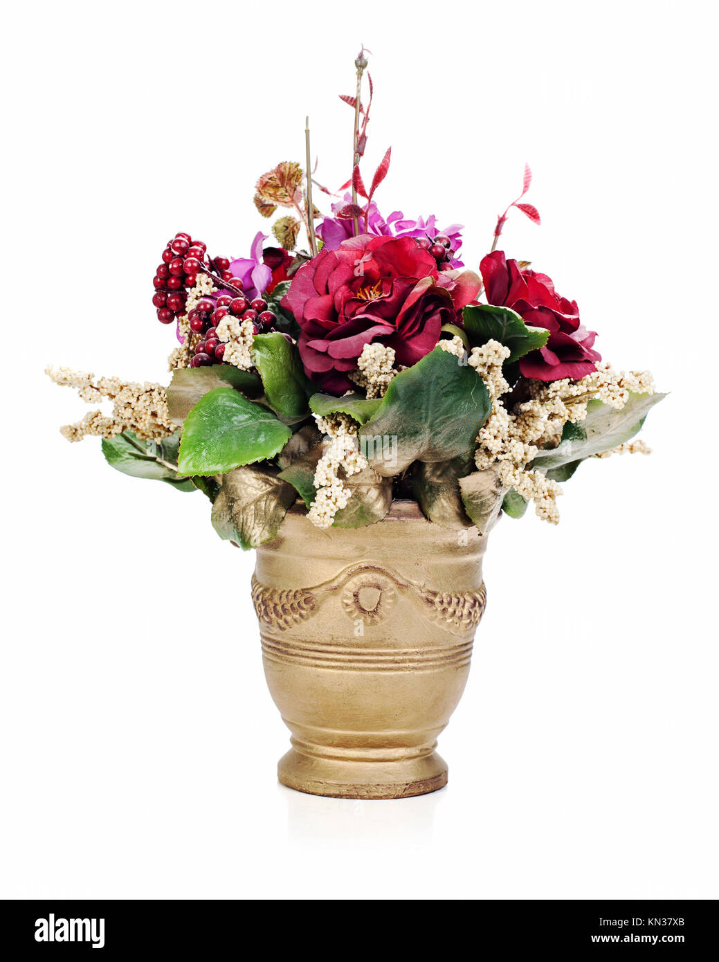 Colorful Flower Bouquet From Artificial Flowers Arrangement Stock Photo Alamy