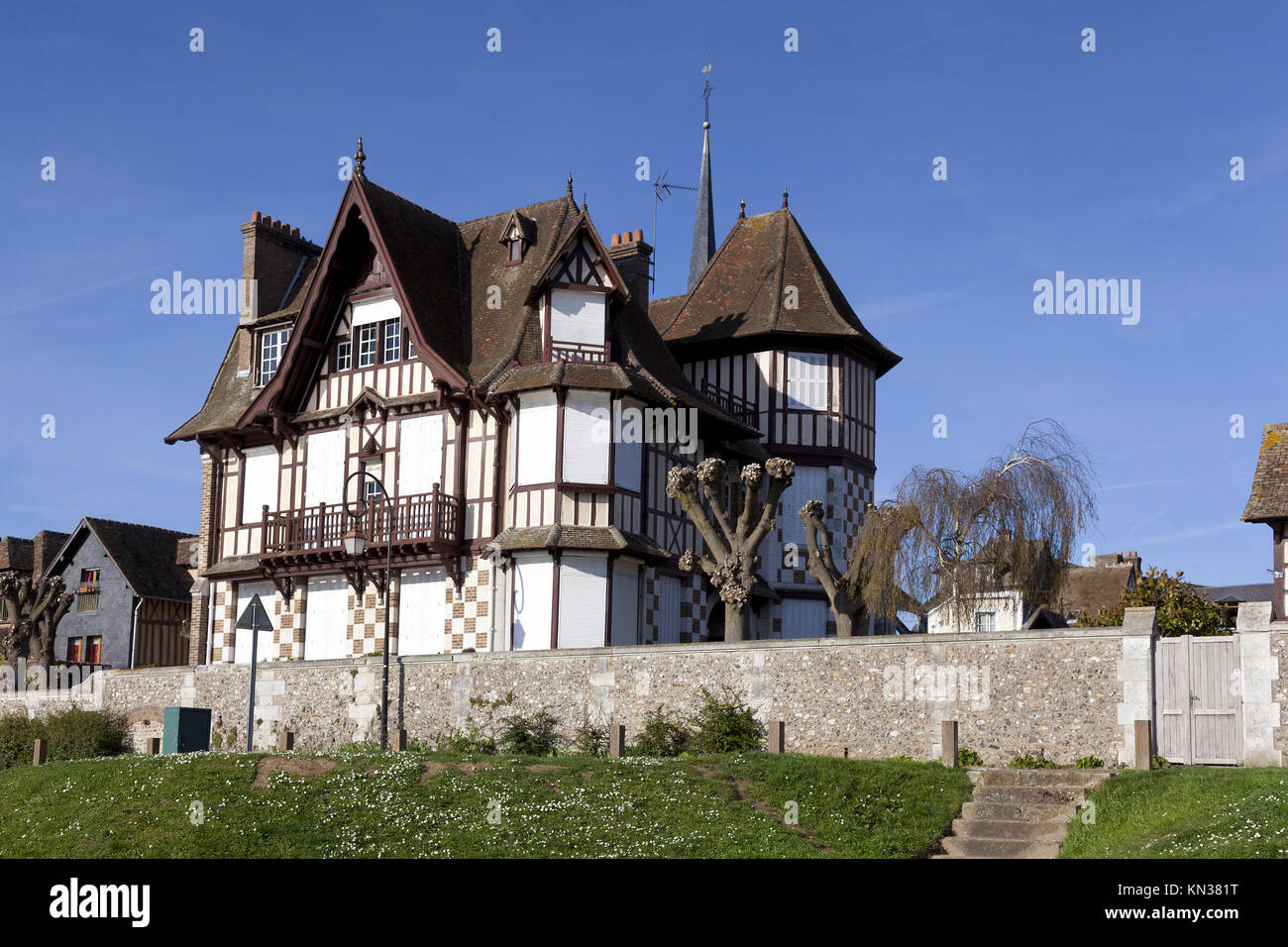 House In Les Andelys Eure Haute Normandie France Stock Photo Alamy