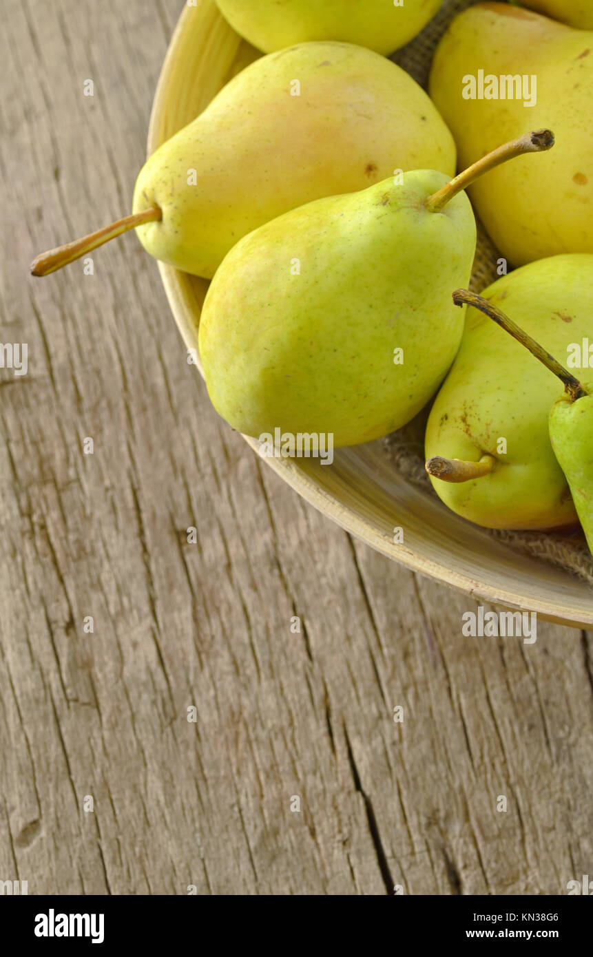 flavorful pears. - Stock Image
