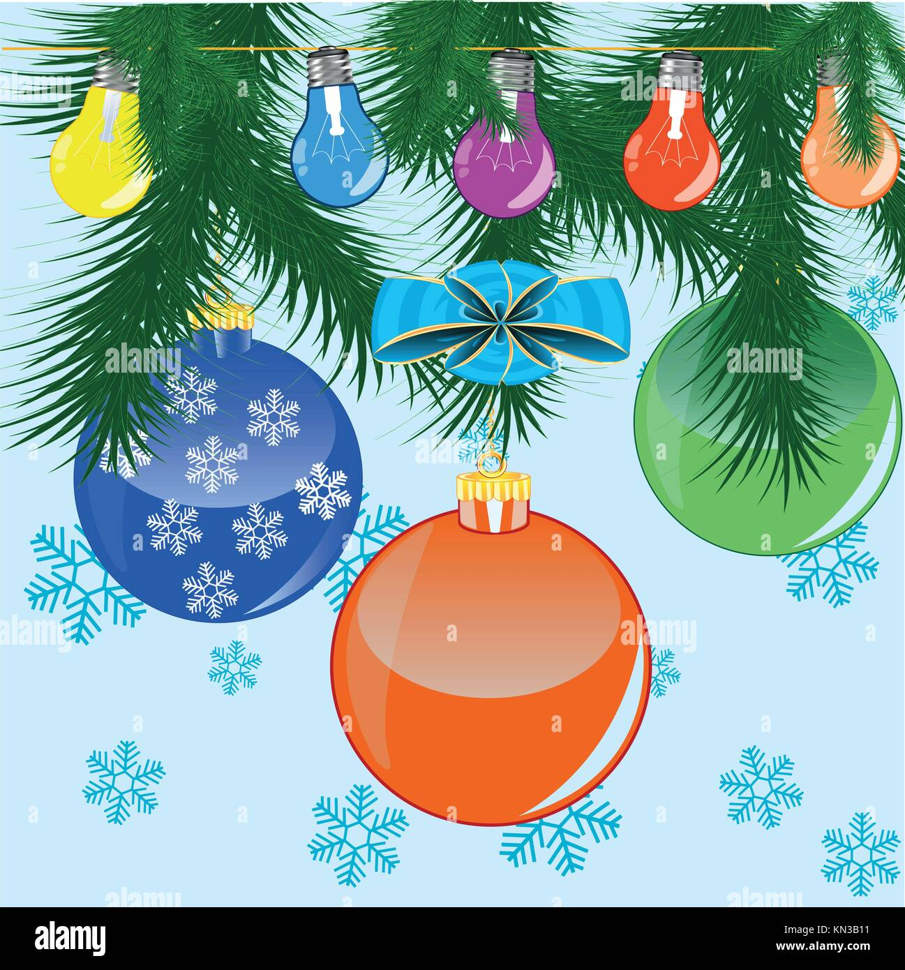 Winter holidays of the toy - Stock Vector