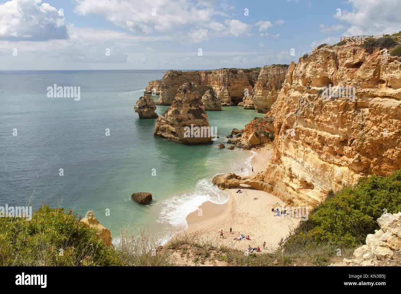 Praia da Marinha, Carvoeiro, Algarve, Portugal. Stock Photo