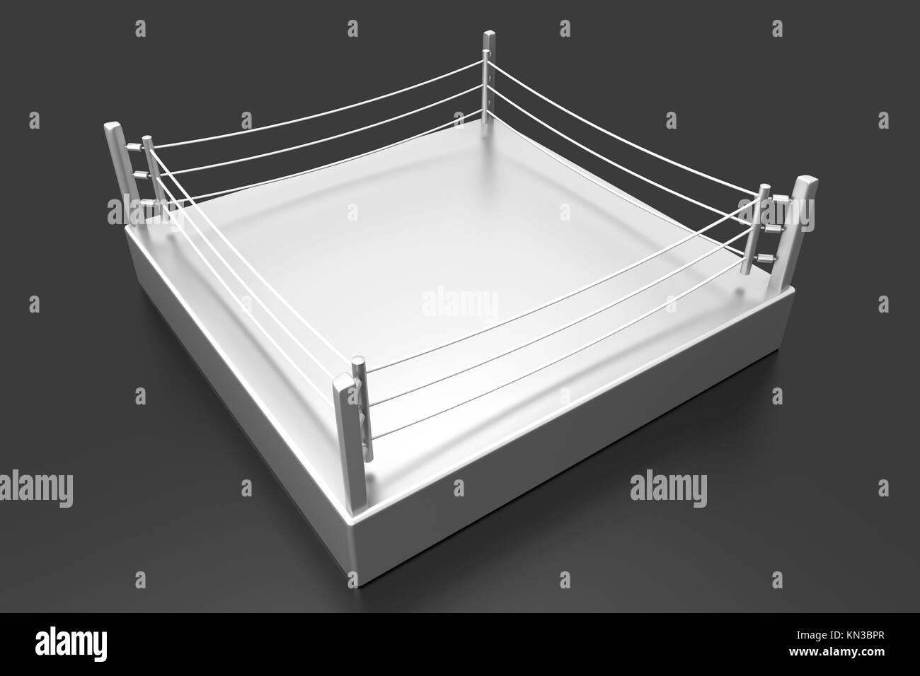 A Boxing ring. 3d illustration. - Stock Image