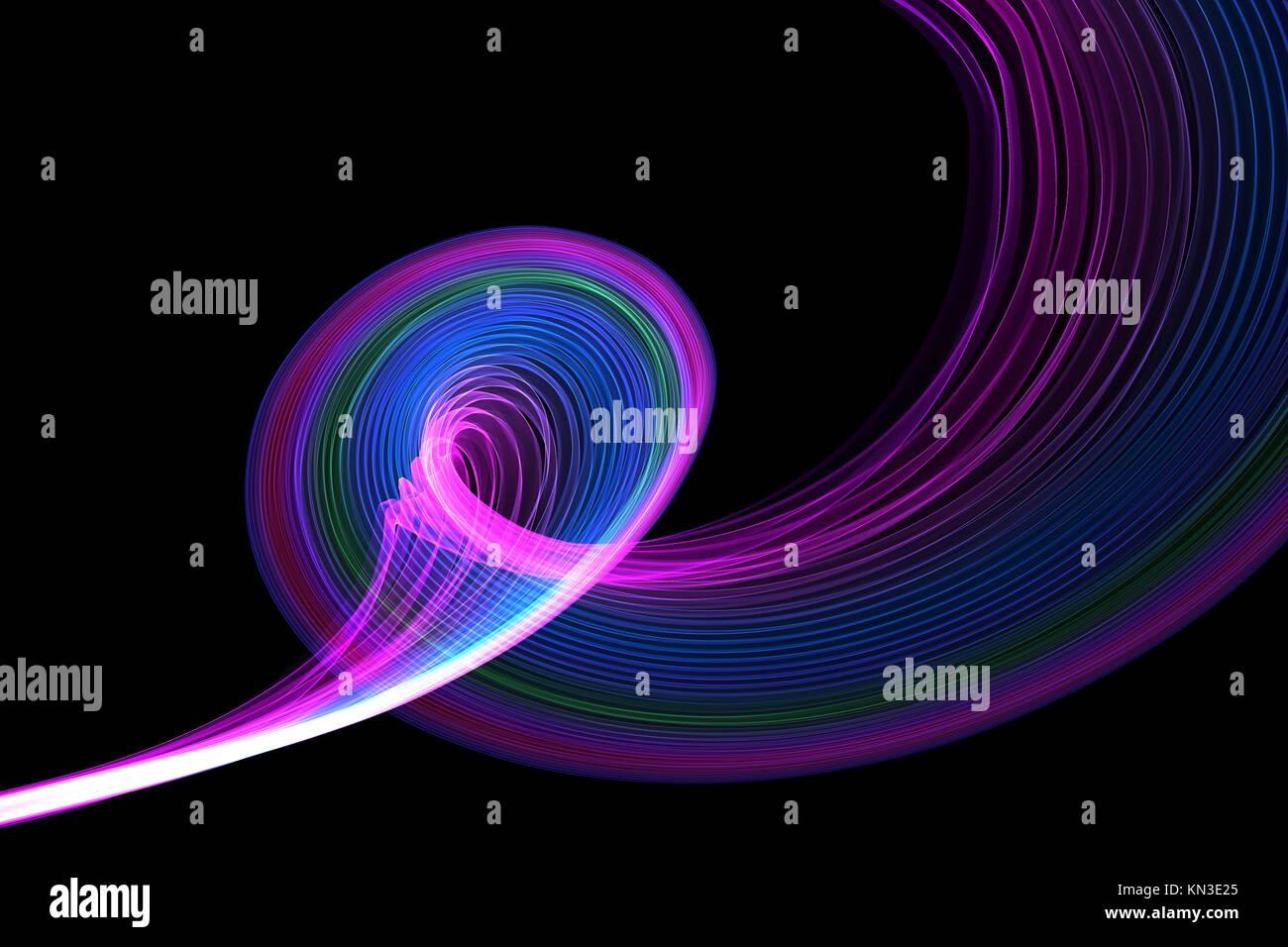 A waveform Design Element isolated on black. - Stock Image