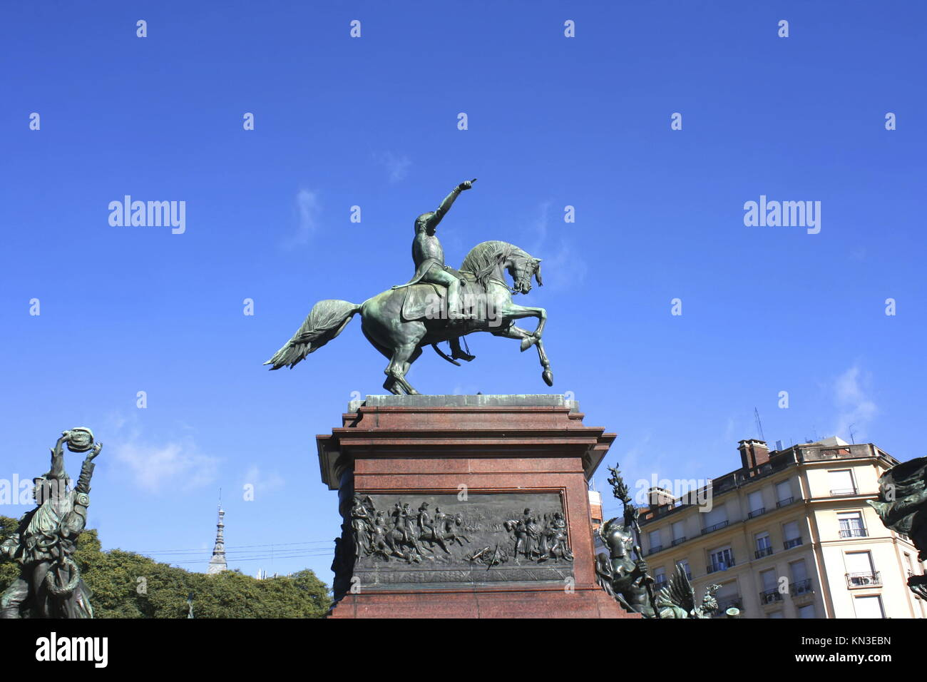 Monument of General San Martin in Buenos Aires, Argentina. - Stock Image