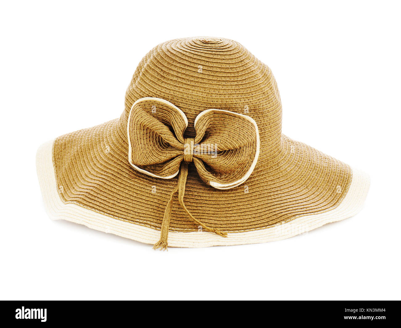 Summer hat isolated on white background. - Stock Image