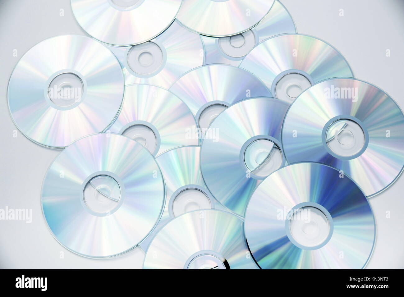 Optical Data storage with a bright and vivid color spectrum. - Stock Image