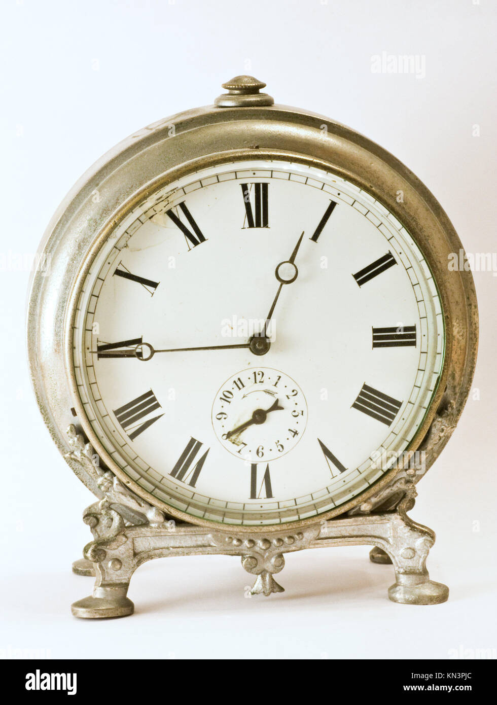 Antique clock, aged 1850, from Paris, currently in an Italian collection. - Stock Image
