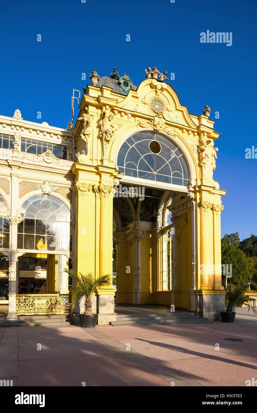 Colonnade, Marianske Lazne (Marienbad), Czech Republic. - Stock Image