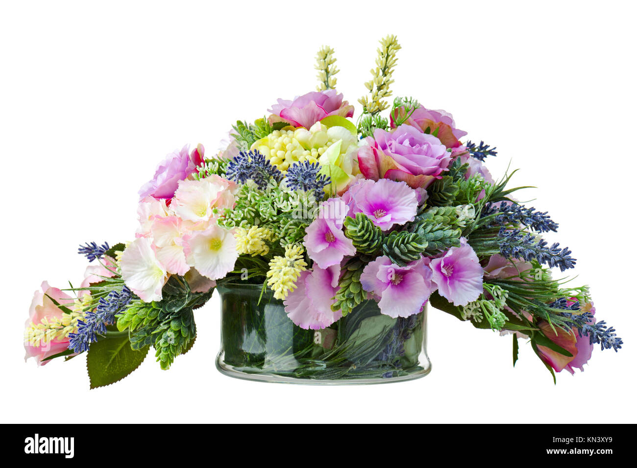 192 & Bouquet from artificial flowers arrangement centerpiece in vase ...
