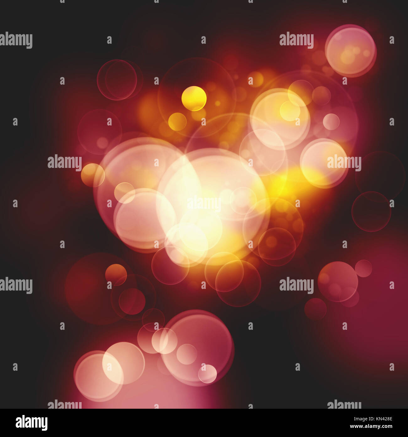 Abstract Festive Christmas background with beauty bokeh and defocused lights. Stock Photo