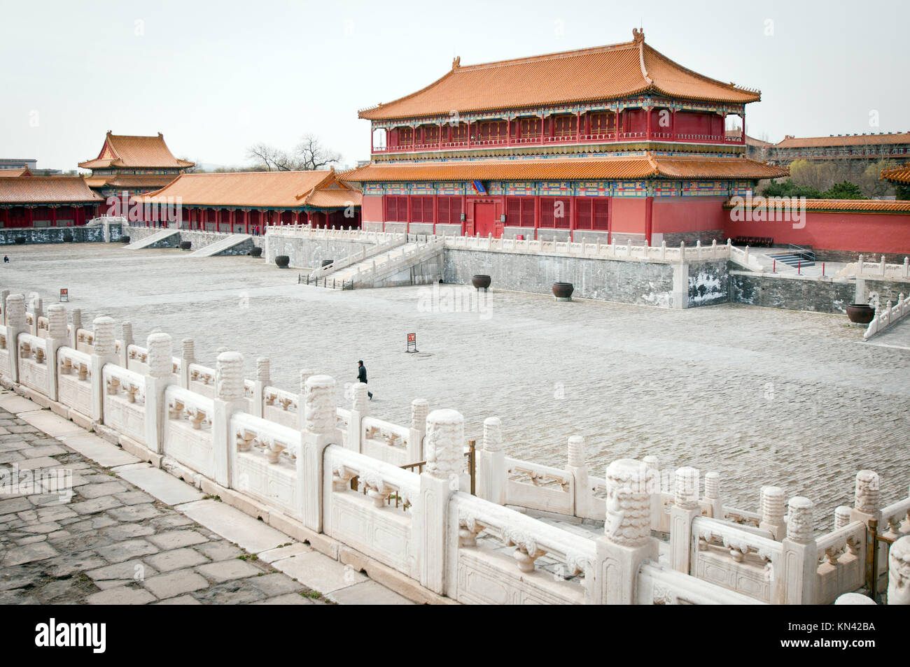 Hall of Enhanced Righteousness (Hongyi Pavilion) in Forbidden City, Beijing, China. - Stock Image