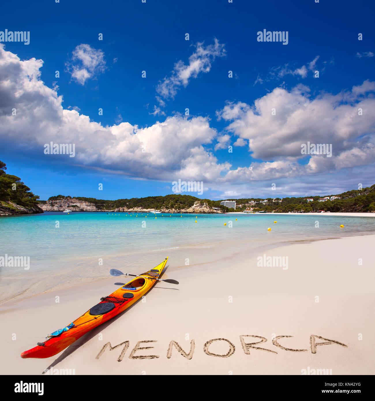 Menorca Cala Galdana Beach in Ciutadella at Balearic islands. - Stock Image