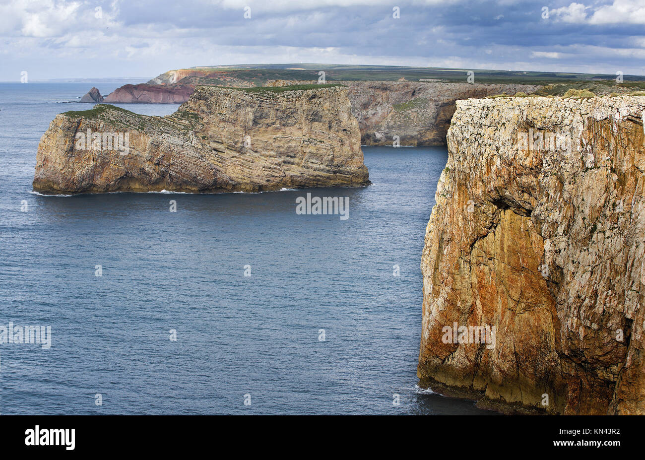 Cabo de Sao Vicente, the Most South Westerly point of Europe, Portugal. Stock Photo
