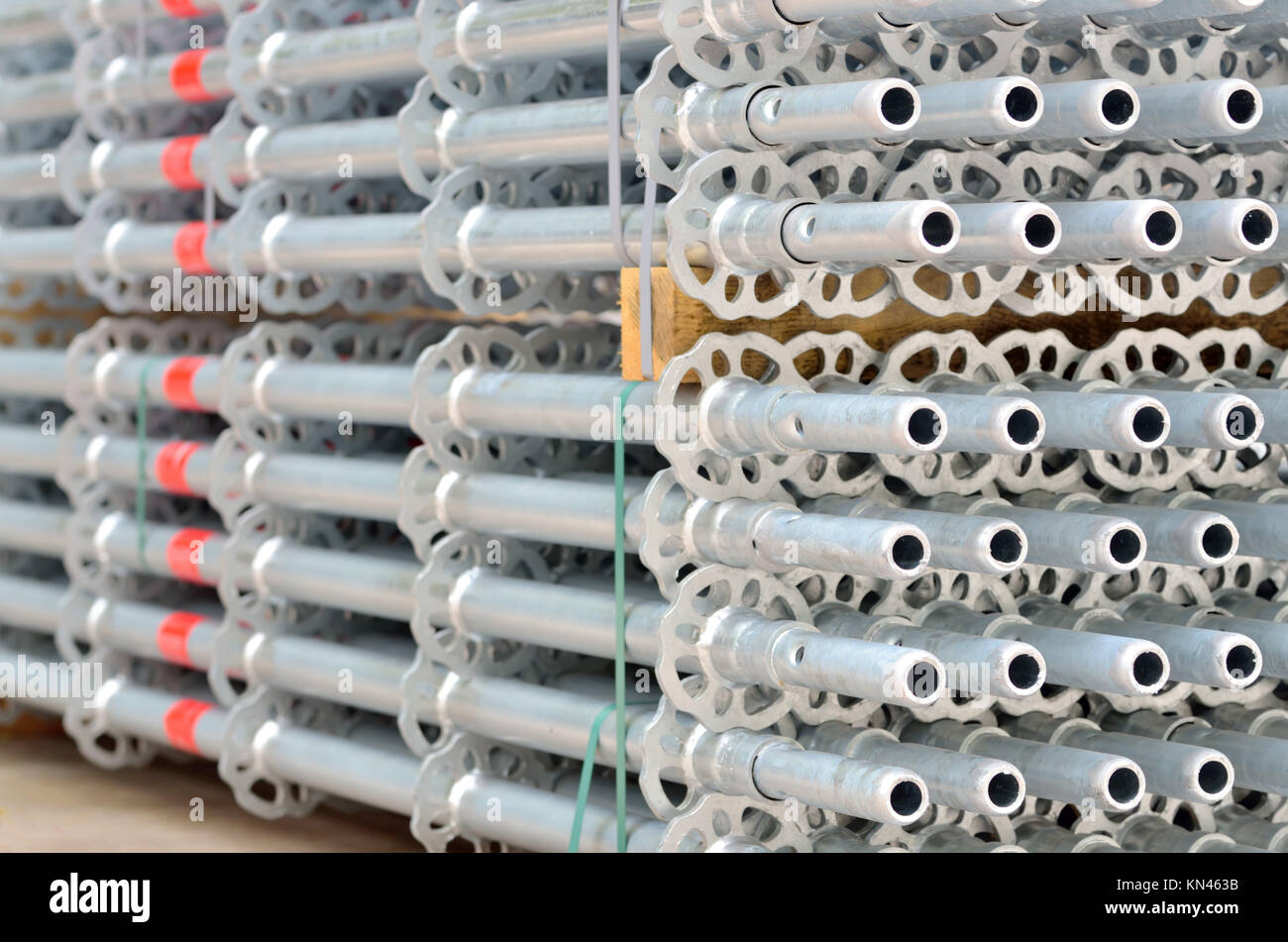 Details Stack Of Scaffolding For Construction.   Stock Image