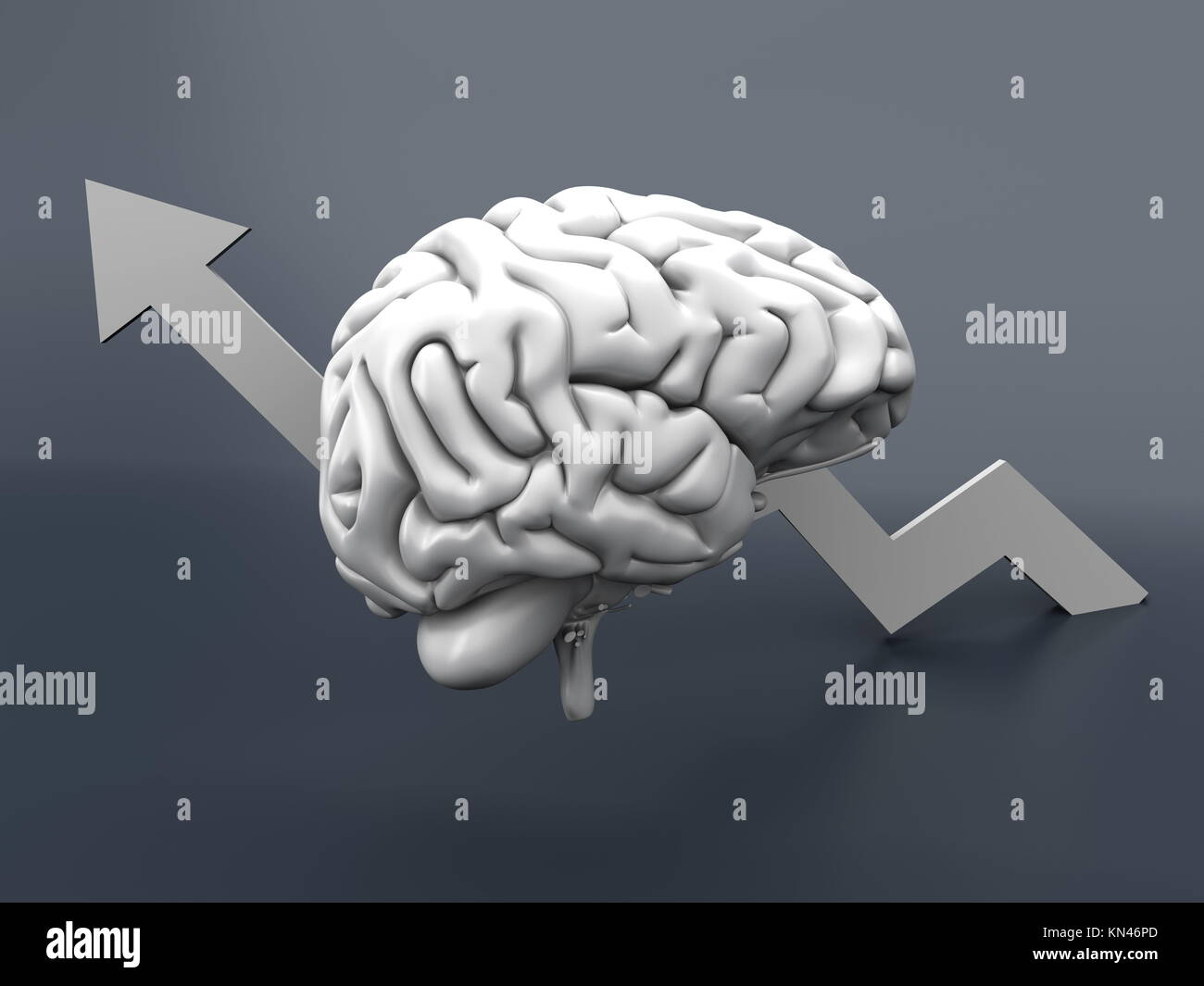 Growing intelligence. 3D Illustration. - Stock Image