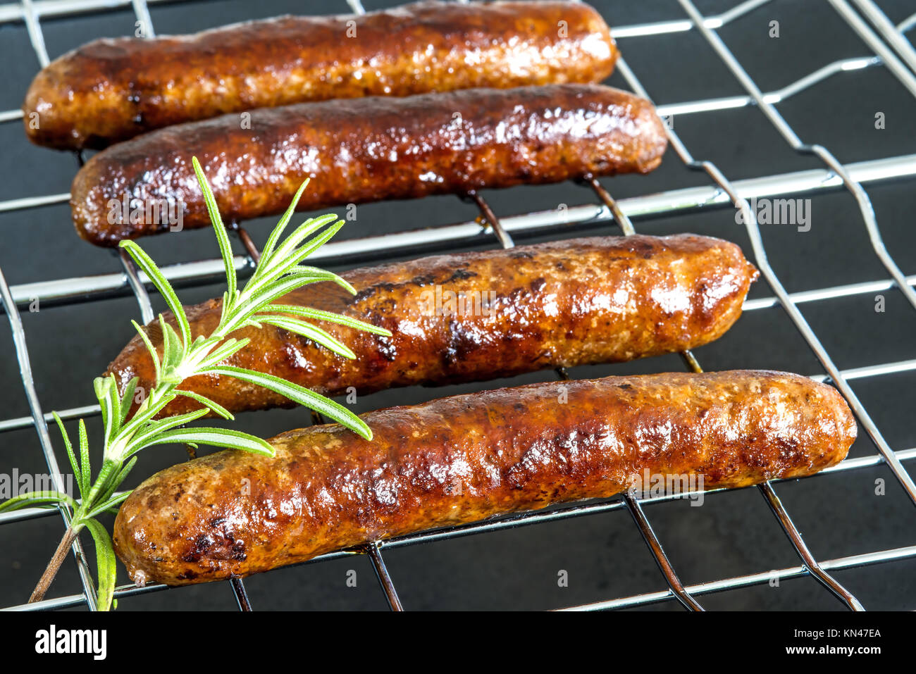 Merguez, North-African sausage, roasted. - Stock Image