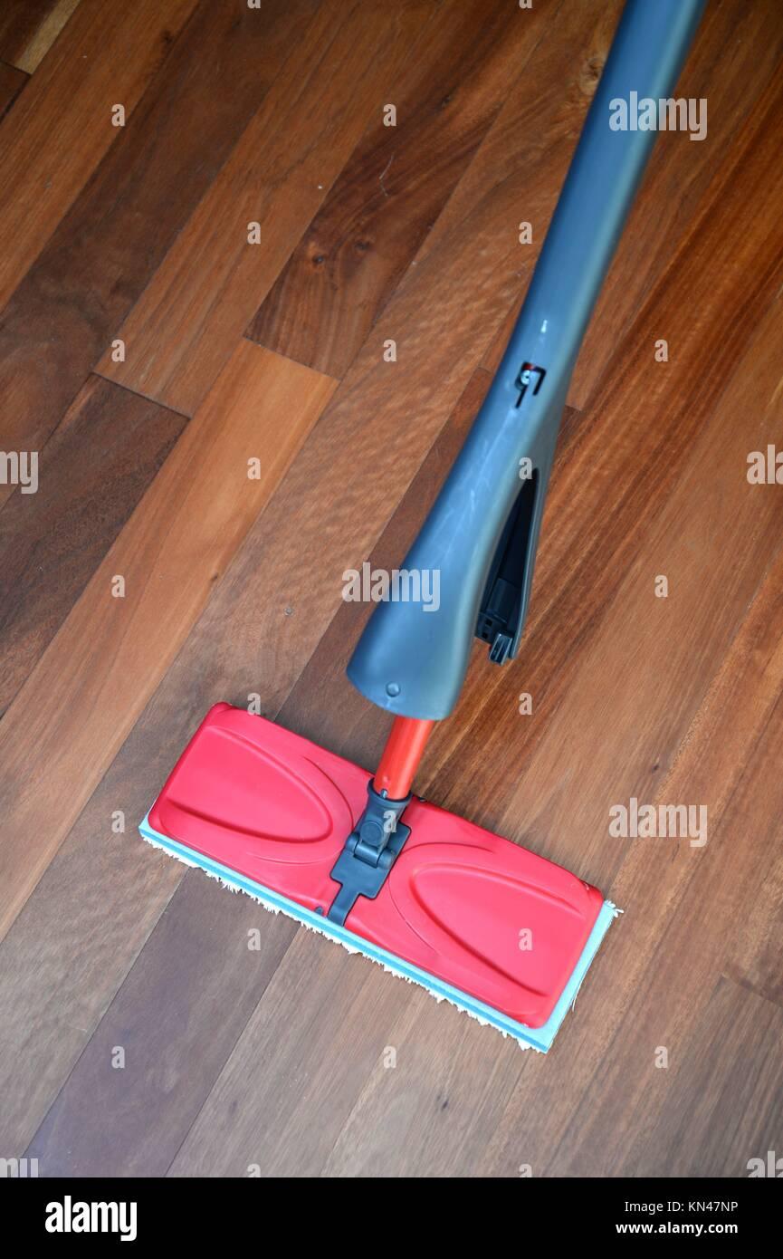 A close up shot od a floor mop. - Stock Image