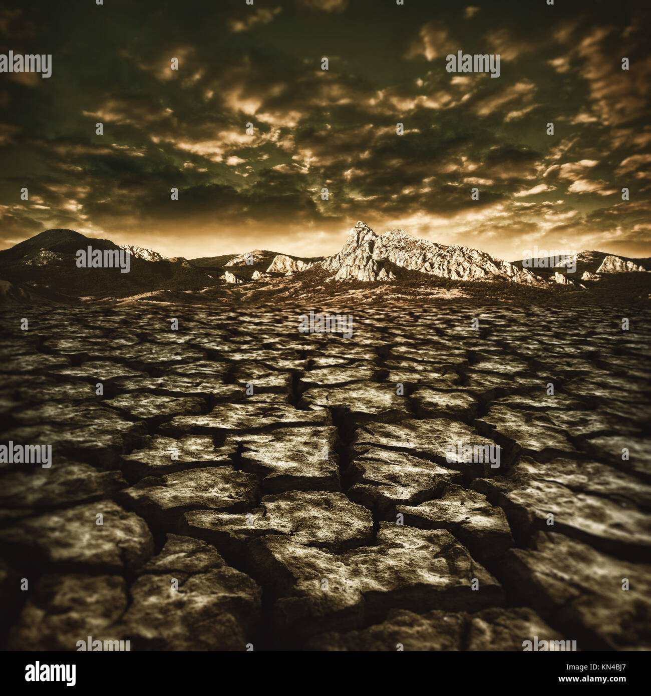 natural disaster, abstract environmental backgrounds. - Stock Image