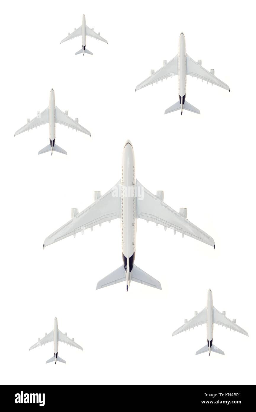 A close up shot of a die cast model plane. - Stock Image