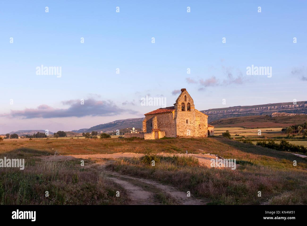 Iglesia de Santa María, church reformed in gothic times, Puentetoma, Palencia province, Spain - Stock Image