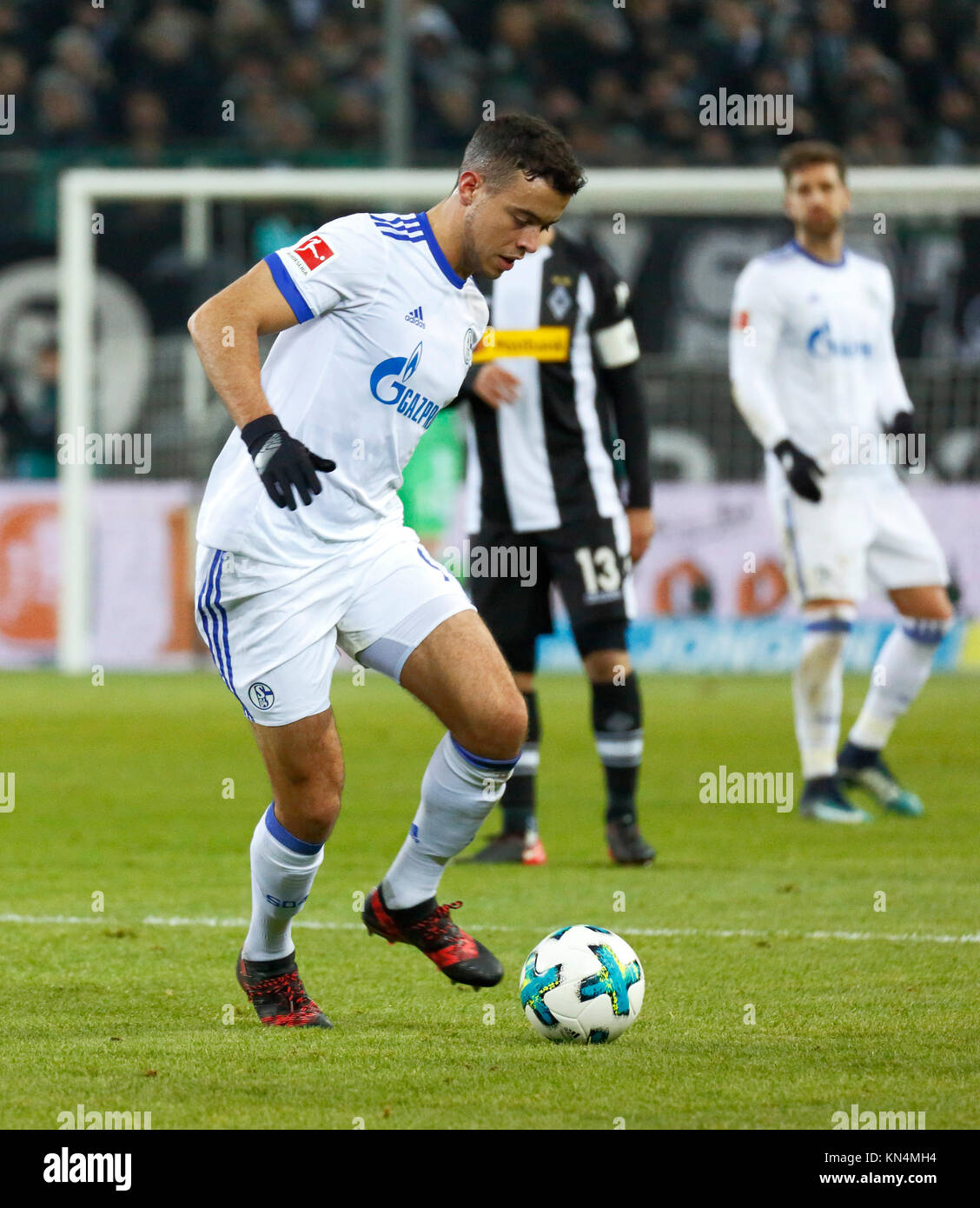 sports, football, Bundesliga, 2017/2018, Borussia Moenchengladbach vs FC Schalke 04 1:1, Stadium Borussia Park, - Stock Image