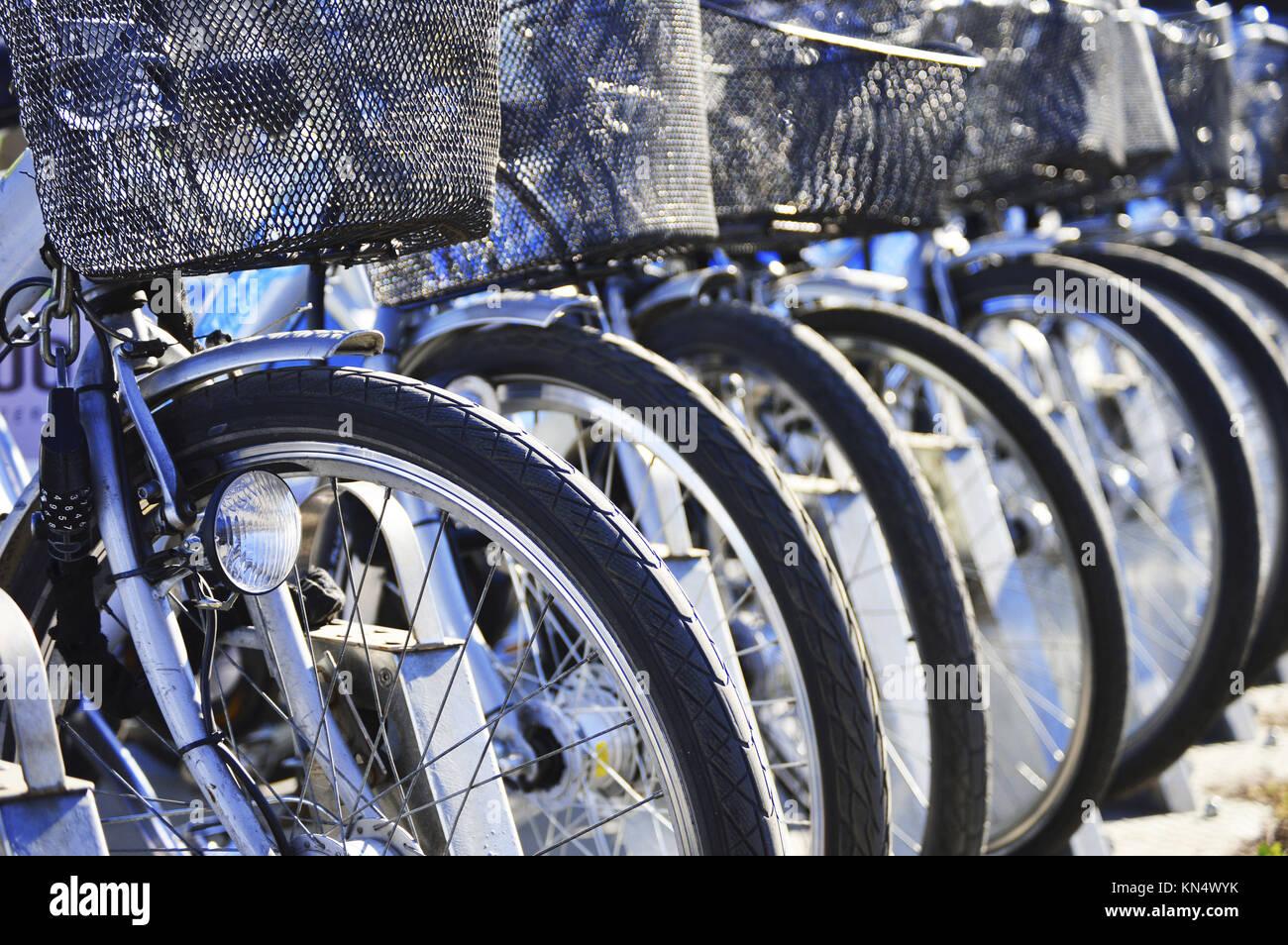 Public bicycle transportation system. - Stock Image