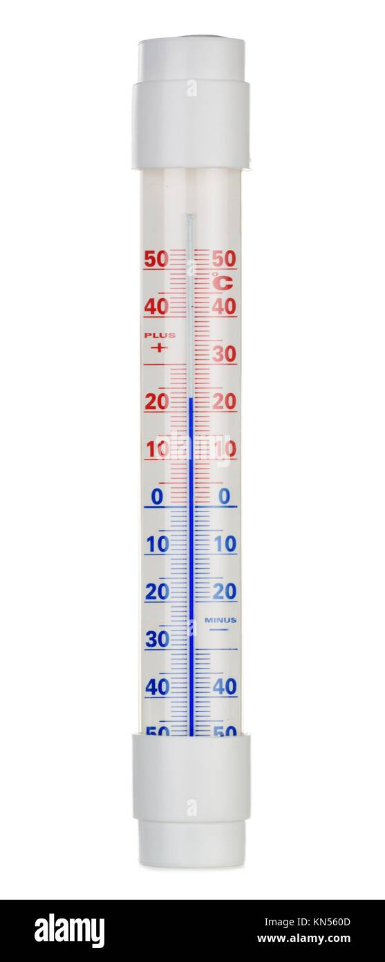 Alcohol thermometer isolated on white background. - Stock Image