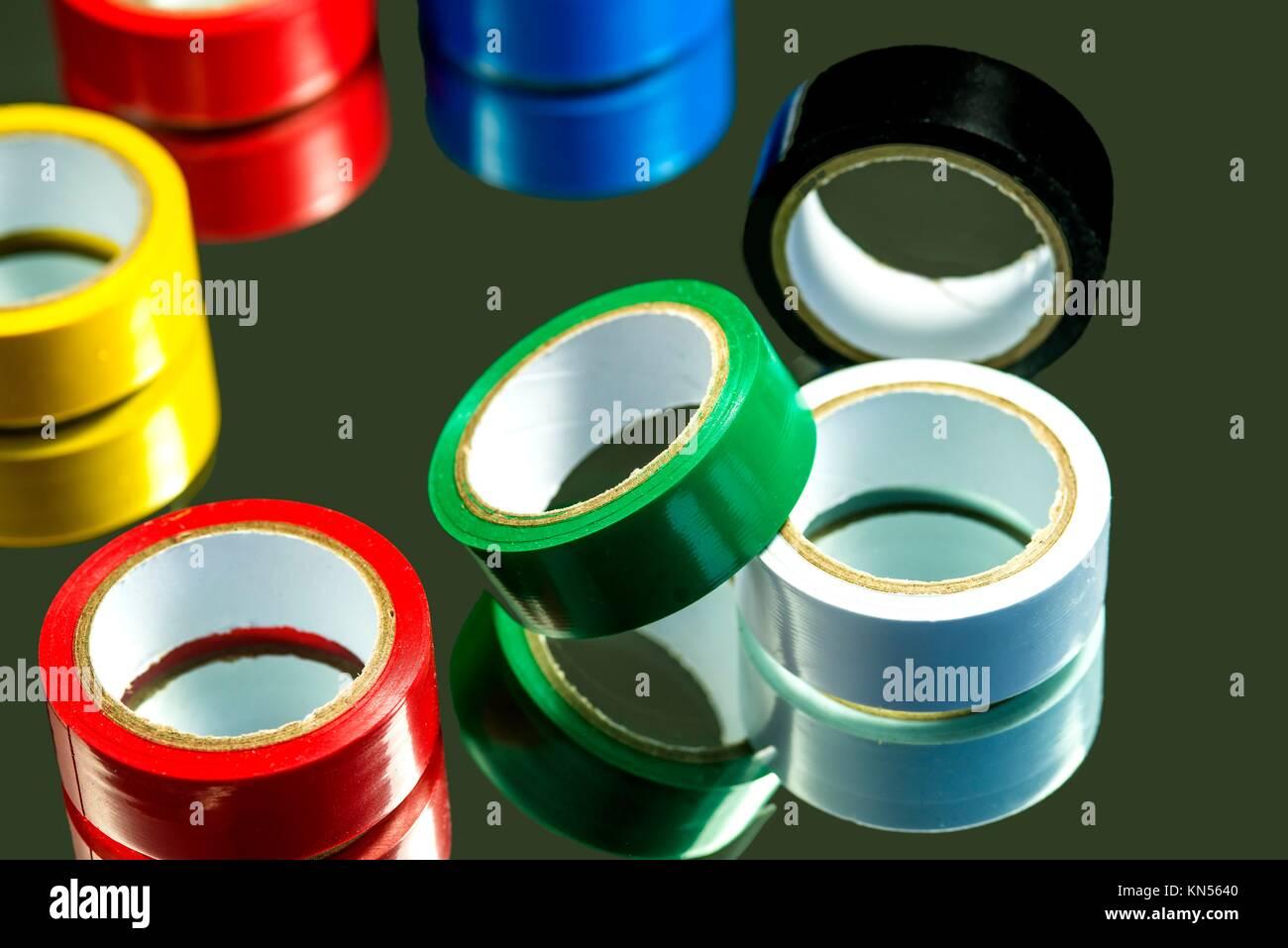 isolation tape. - Stock Image