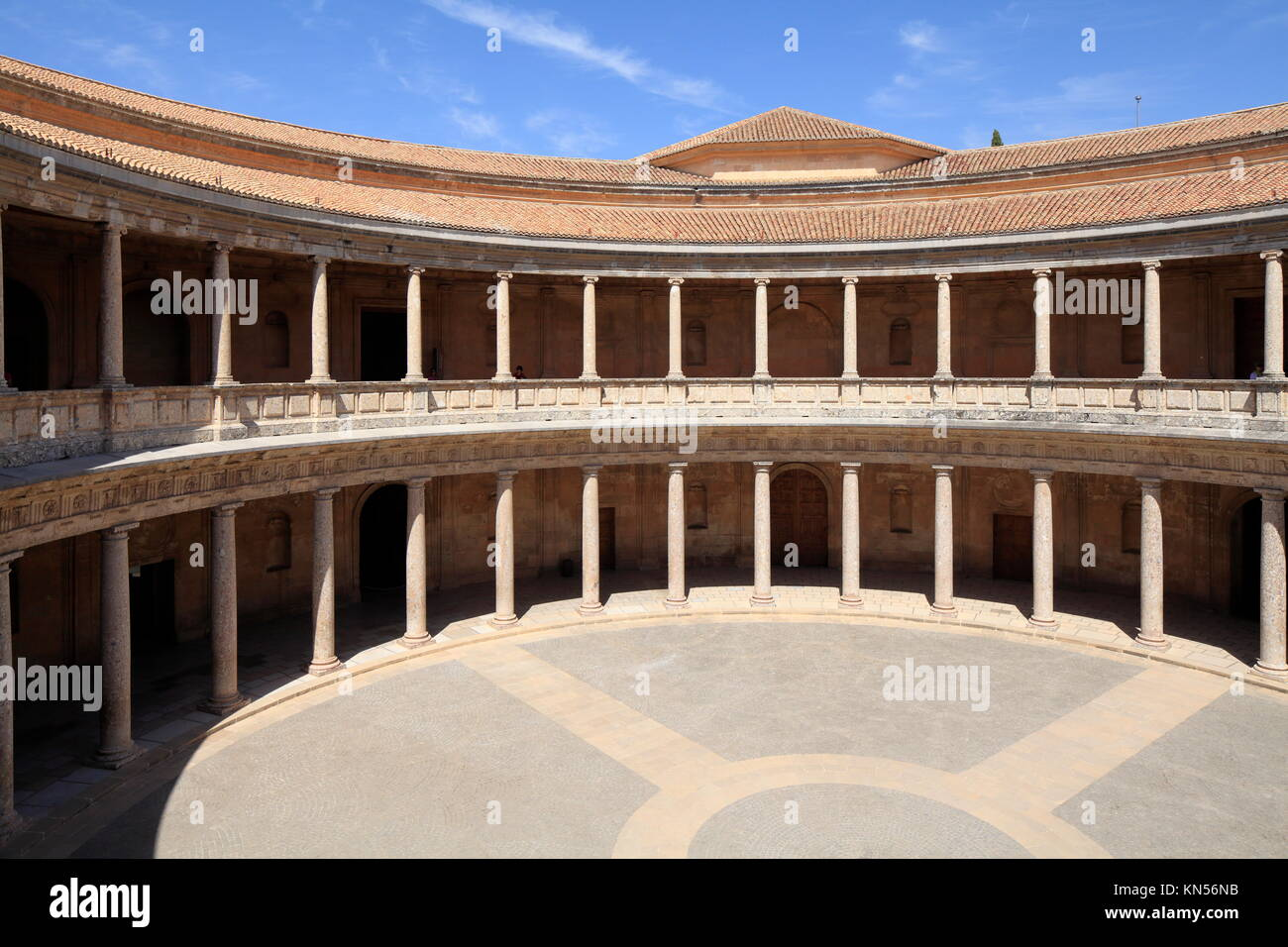 Palace of Charles V, Alhambra Palace, Granada, Spain Stock Photo