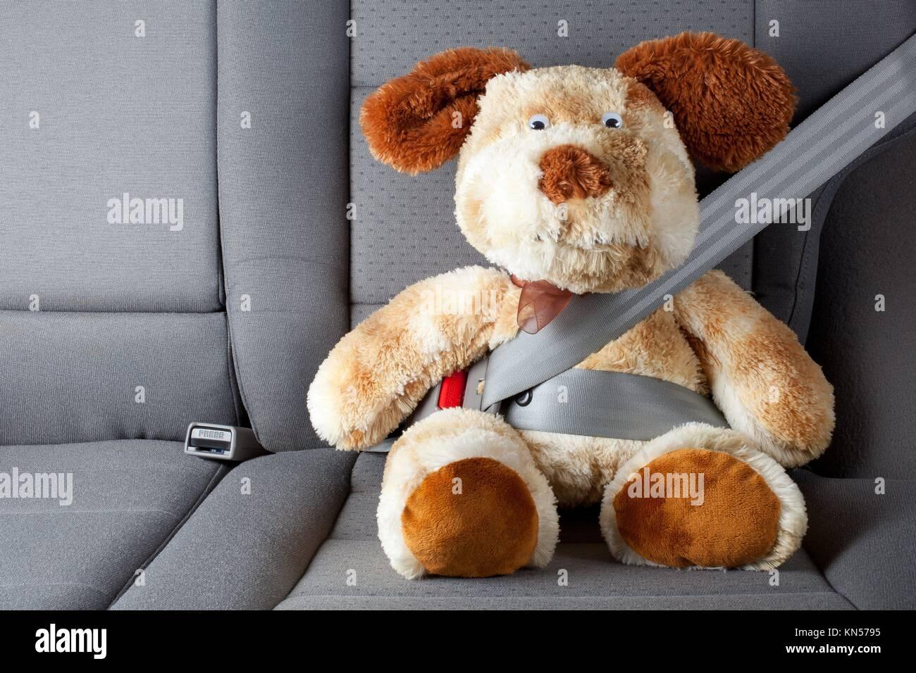 Stuffed Toy Wiith Seat Belt Fastened Stock Photo 167916593 Alamy