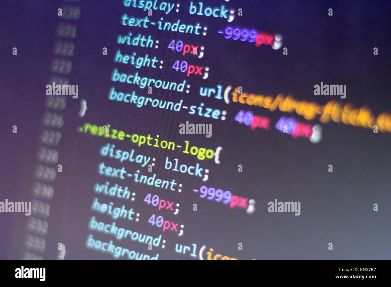 Css Style Code Computer Programming Source Code Abstract Screen Of Stock Photo Alamy