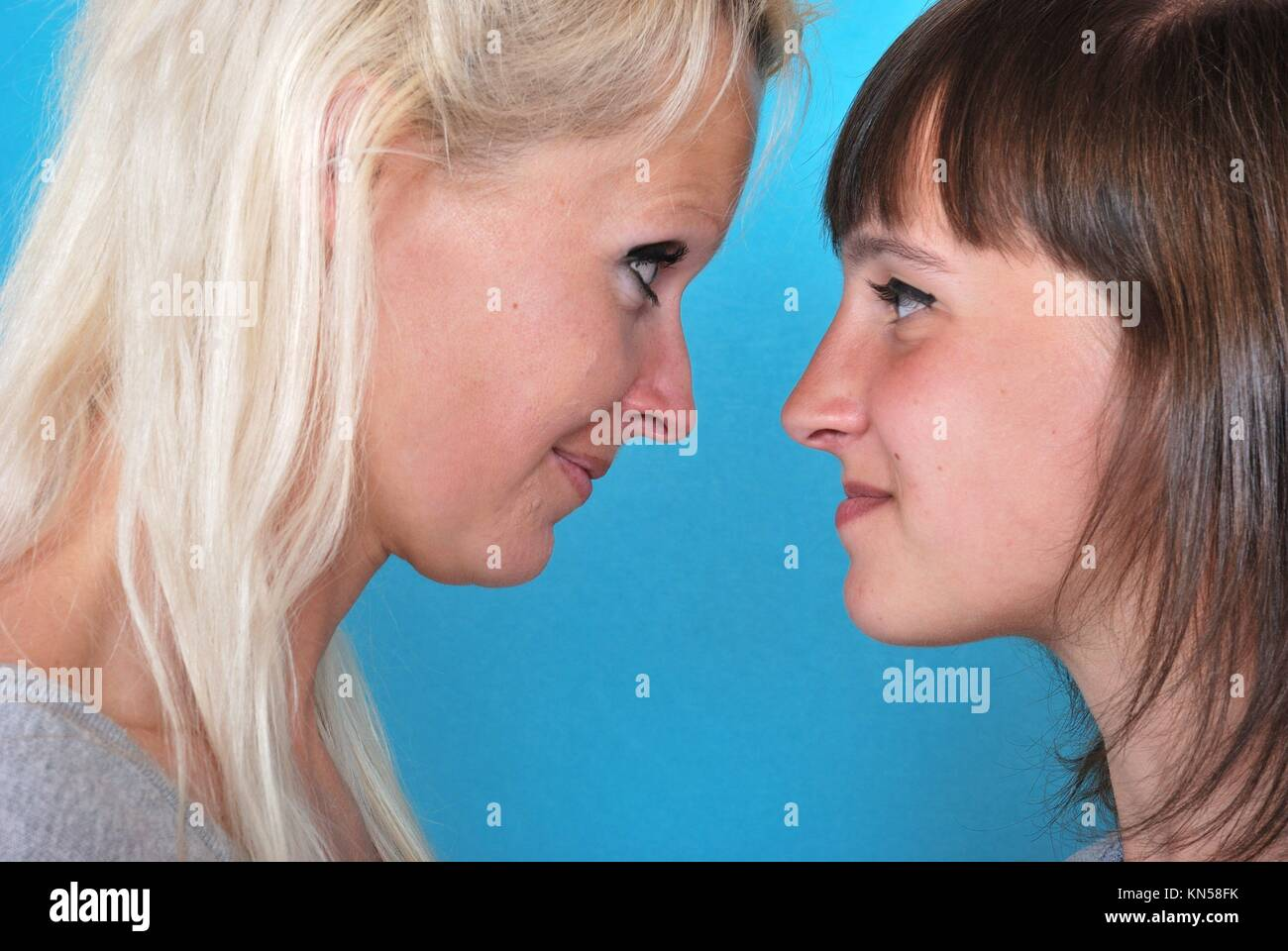 Complicity between mother and daughter. Stock Photo