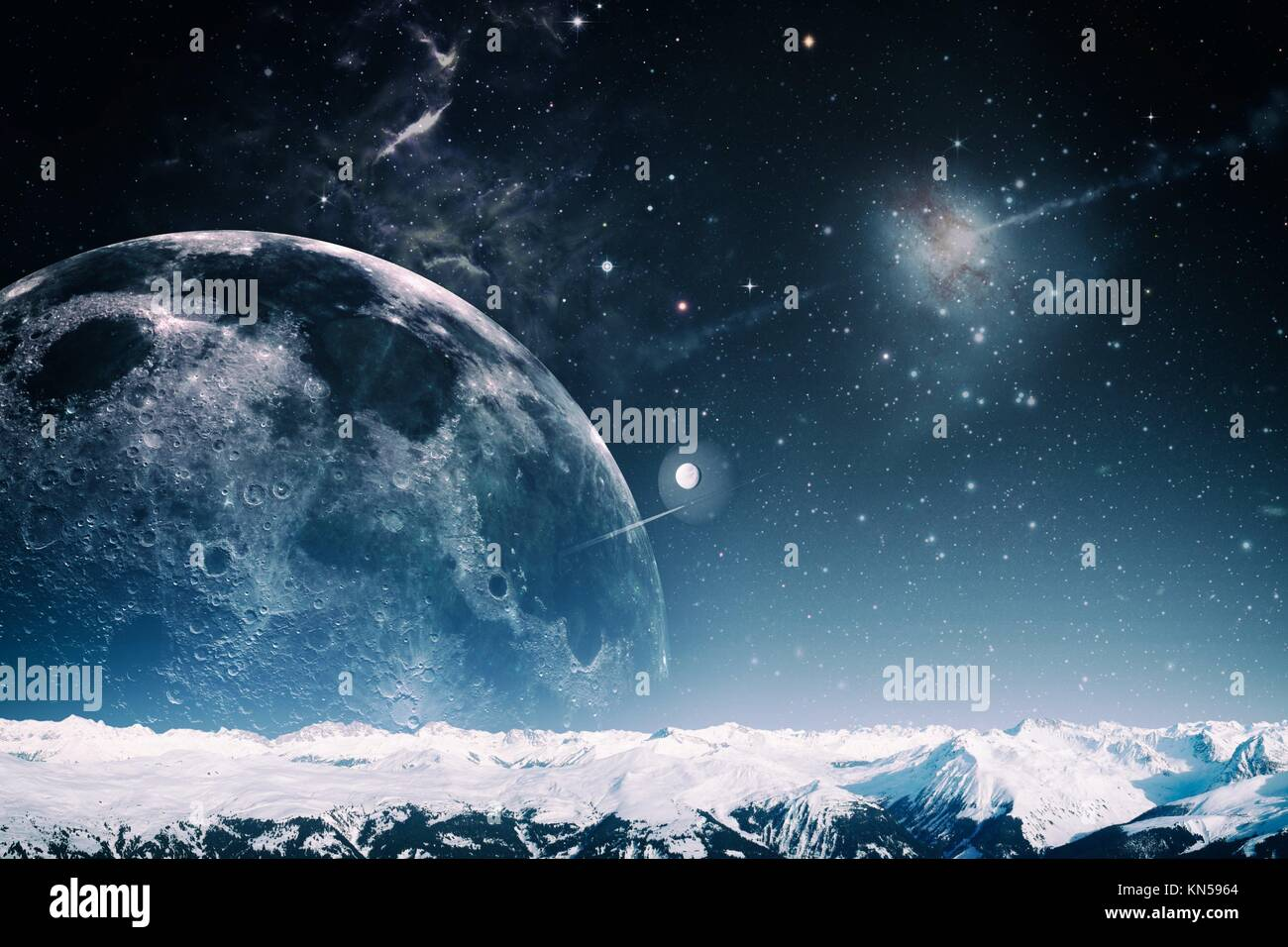 another world landscape, abstract fantasy backgrounds stock photo
