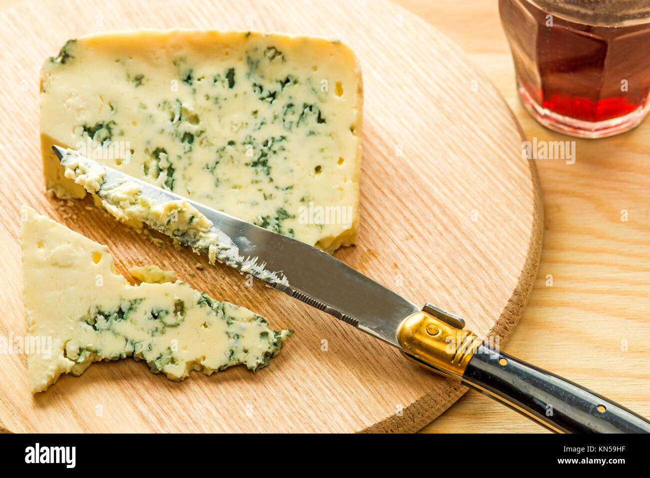 Blue french cheese. - Stock Image