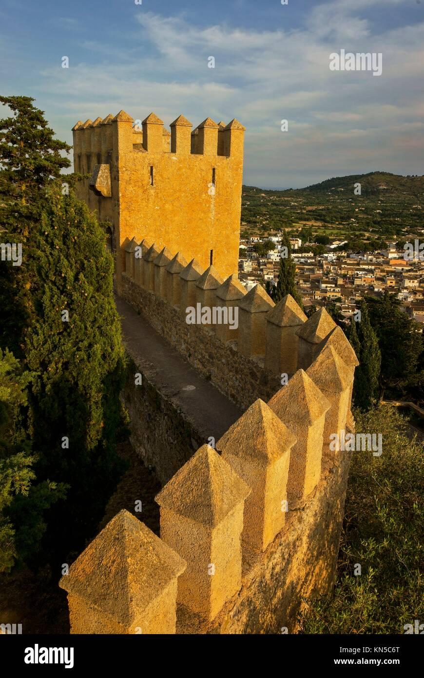 Torre de Sant Miquel, Sant Salvador de S´Almudaina, XIV. Arta. Mallorca century. Balearic Islands. Spain. - Stock Image