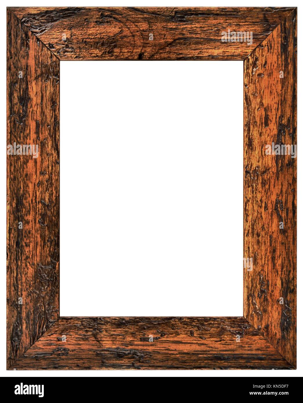Beau Vintage Wooden Frame Isolated With Clipping Path.
