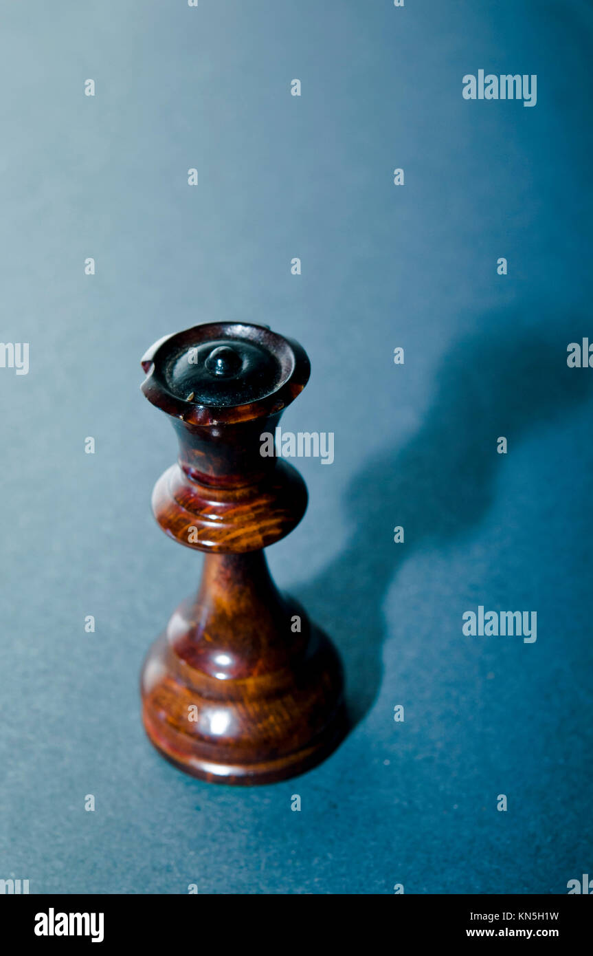 chess queen shadow - Stock Image