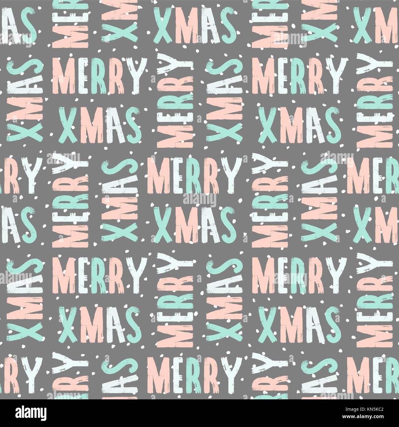 seamless repeating pattern with text merry christmas in pastel colors KN5KC2