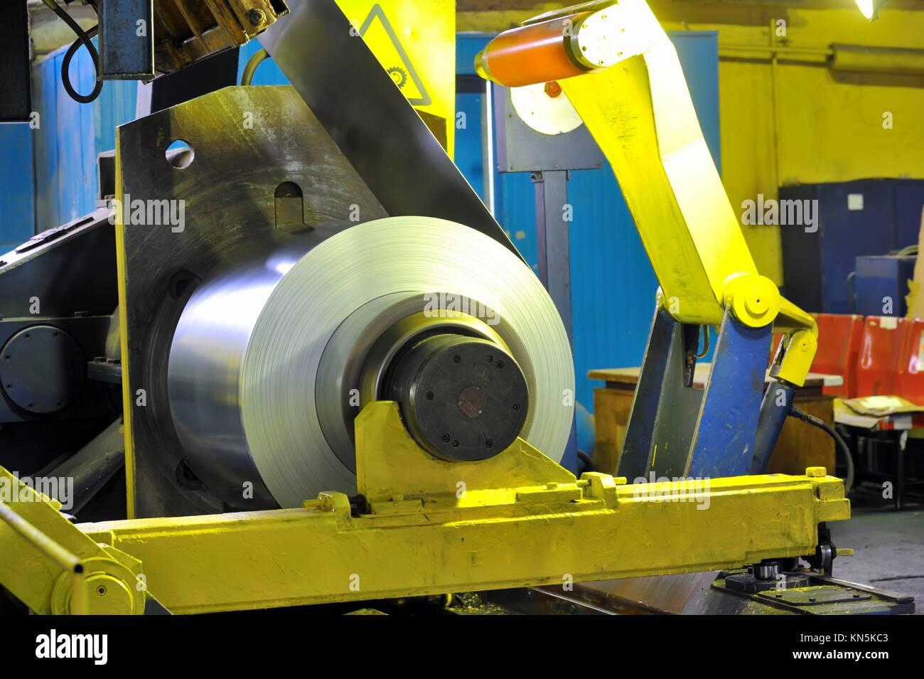 rolls of steel sheet. - Stock Image