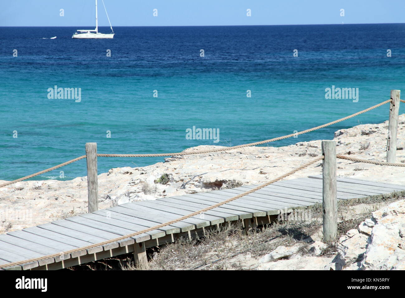 Illetes beach Formentera Balearic islands Spain. - Stock Image