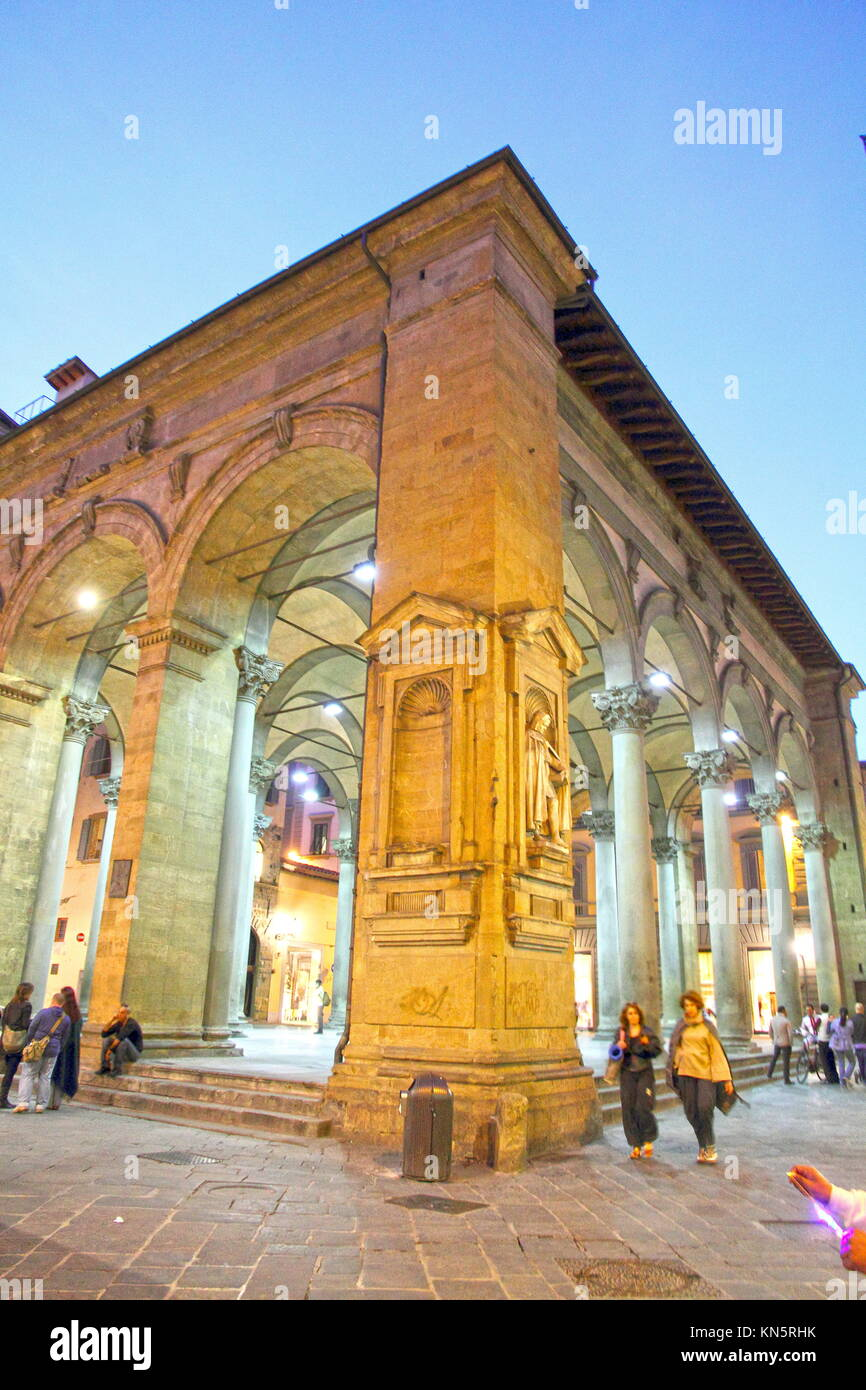 The Mercato Nuovo and the Porcellino in Florence, Tuscany Italy. - Stock Image