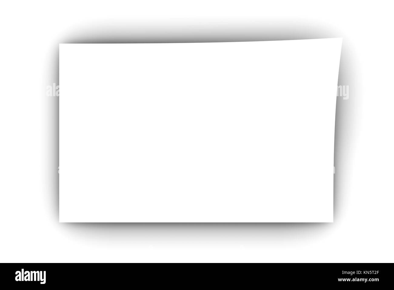 A blank piece of paper. 3D rendered Illustration. - Stock Image