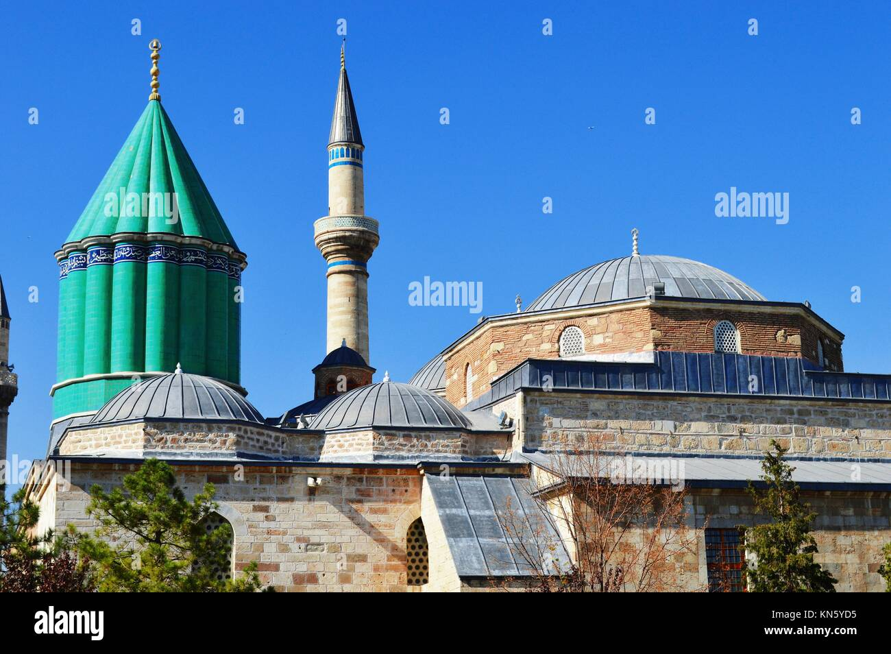 Mevlana Museum in Konya Central Anatolia, Turkey. Whirling dervishes. - Stock Image