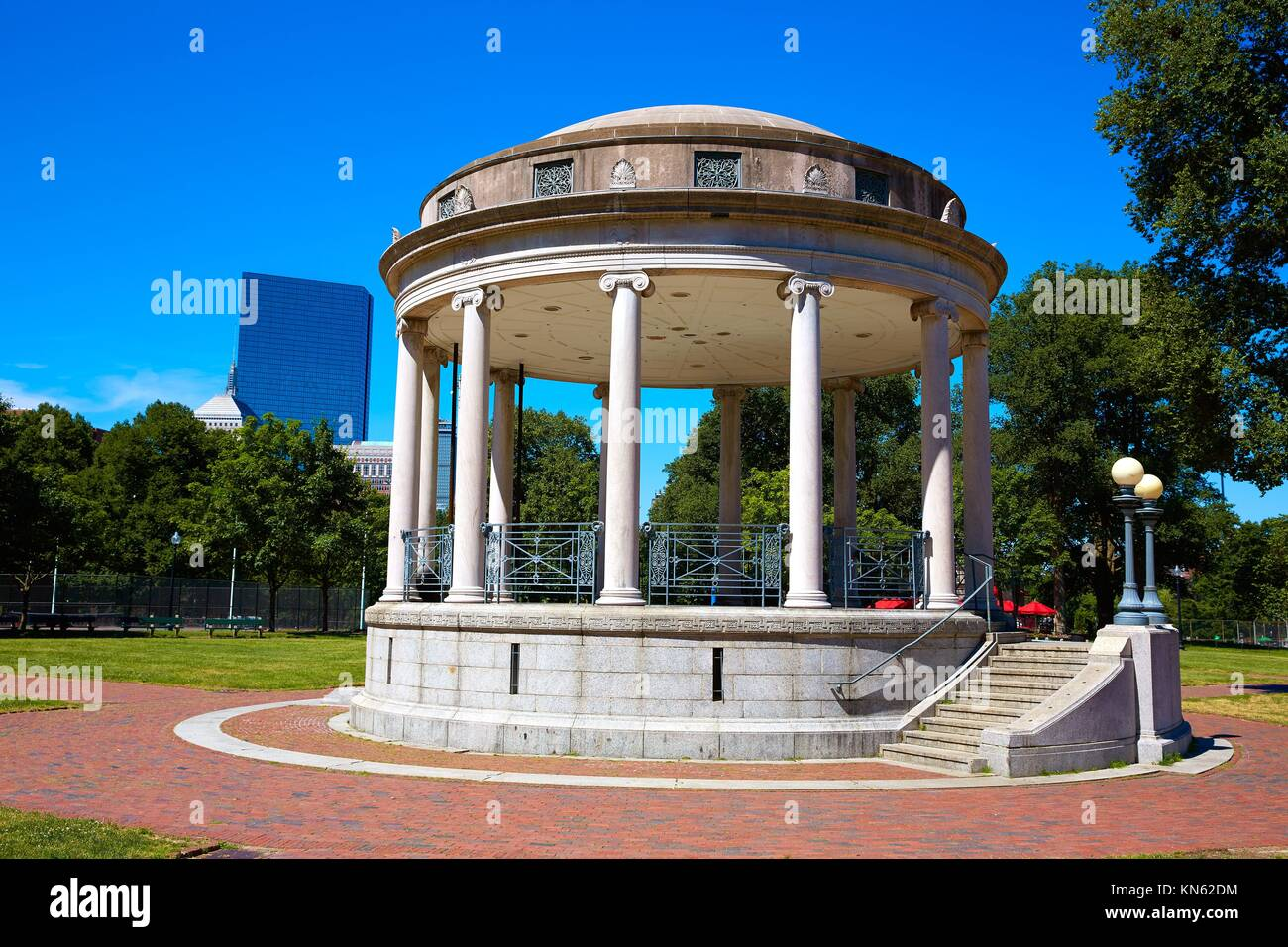 Boston Common Parkman Bandstand in sunlinght at Massachusetts USA. - Stock Image