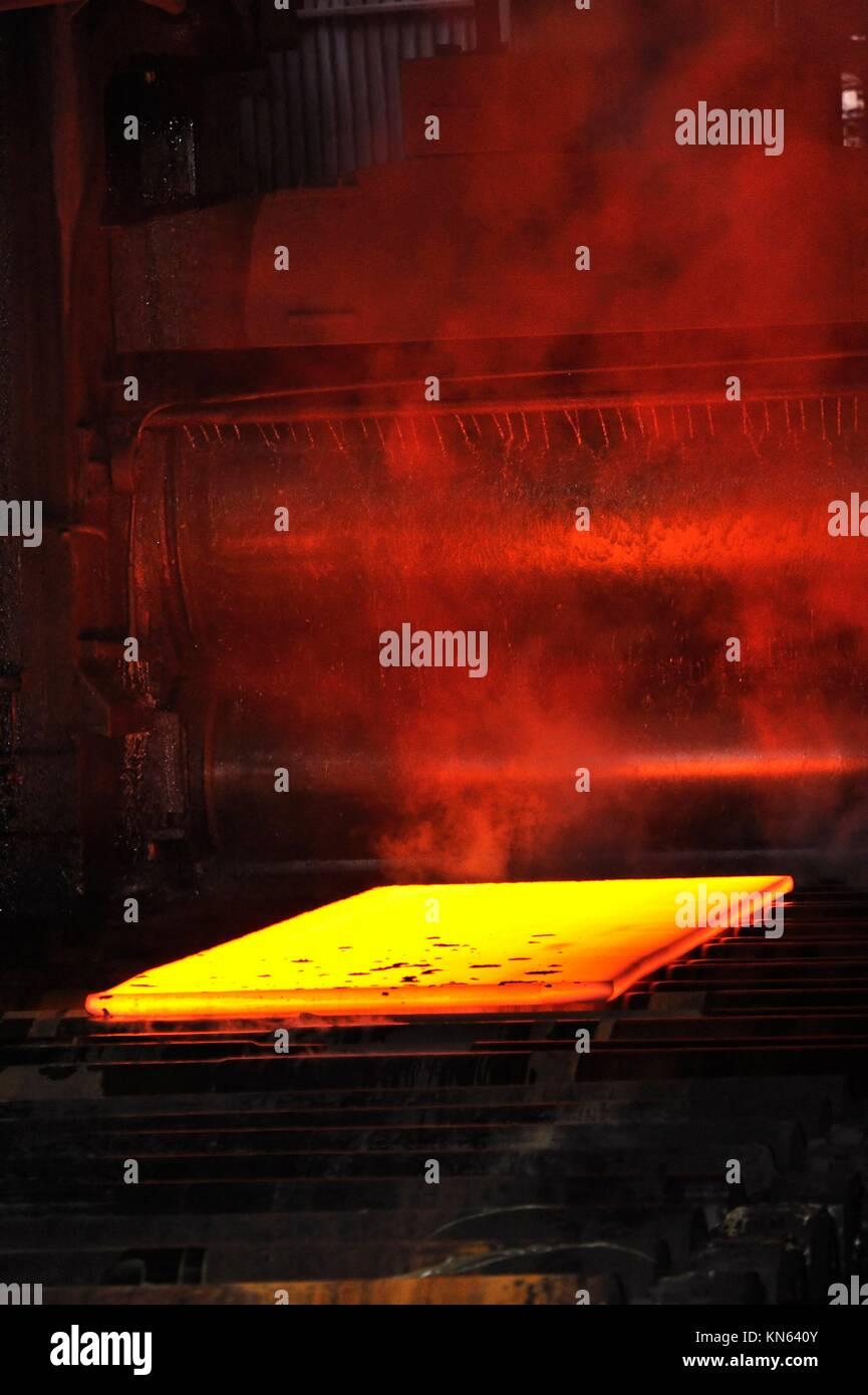 hot steel sheet. - Stock Image