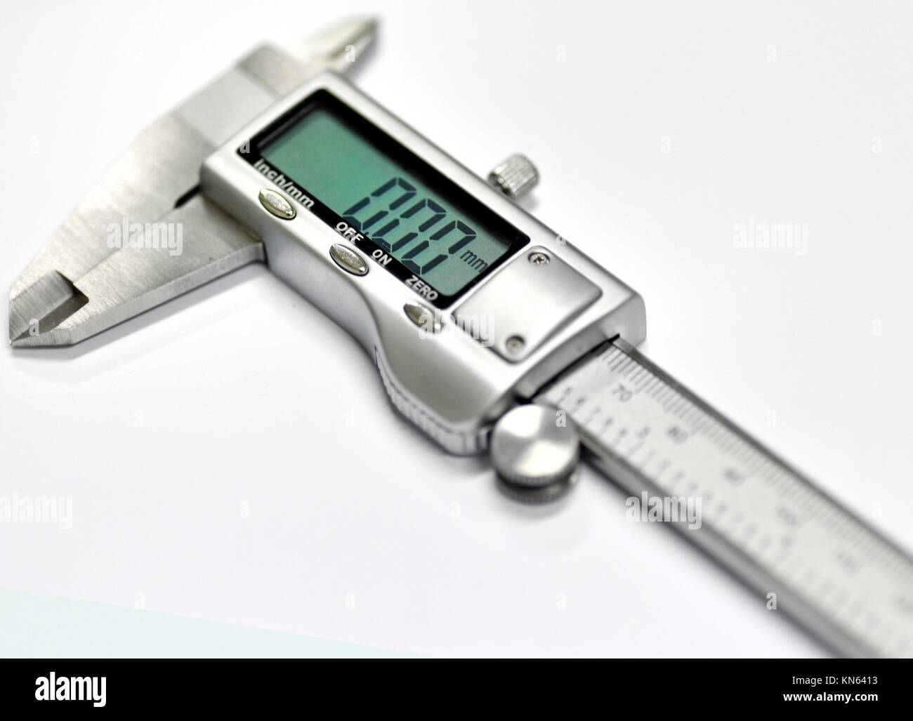 The electronic exact calliper. - Stock Image