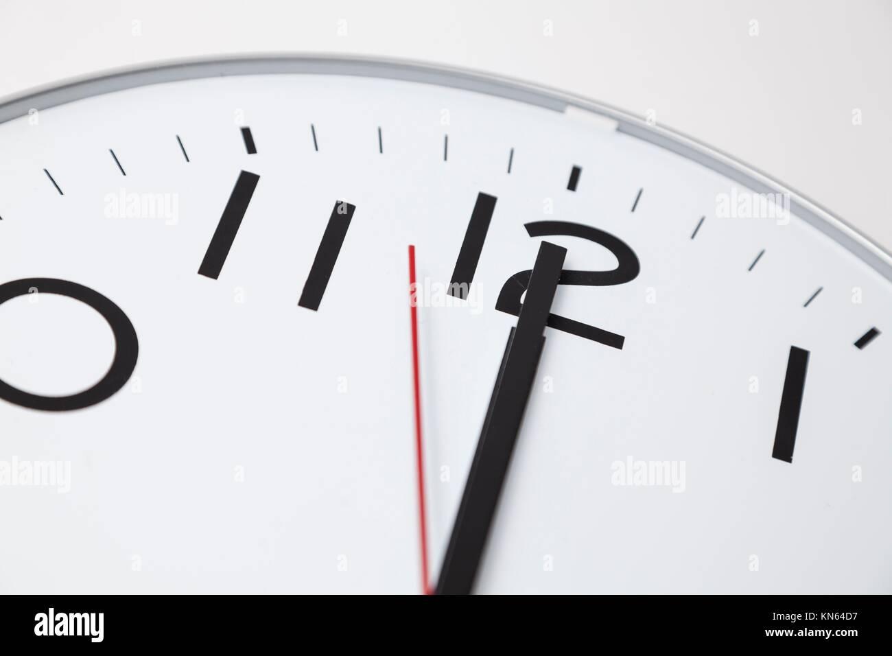 Twelve o'clock. - Stock Image