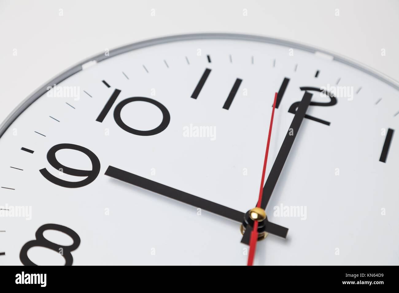 9 o'clock. - Stock Image